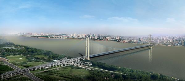 新闻中心 公司动态 公司新闻  杨泗港长江大桥距下游鹦鹉洲大桥约3.