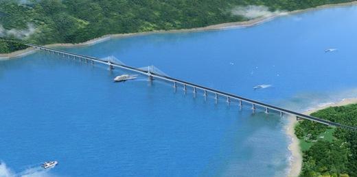 在建工程 桥梁工程  长山大桥工程位于大连市长海县大长山岛与小长山
